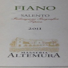 Masseria Altemura Fiano Salento IGT 2011